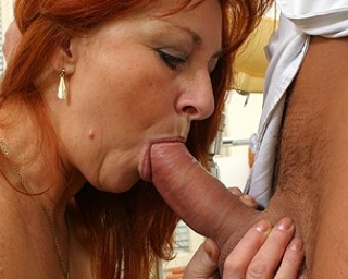 Omaseks Shaved red mama fucking and sucking hard